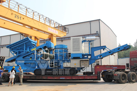 Crawler hydraulic cone mobile crushing plant