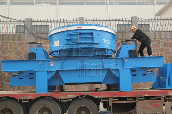 YIFAN Machinery the VI 8000II Vertical Shaft Impact Crusher Loading