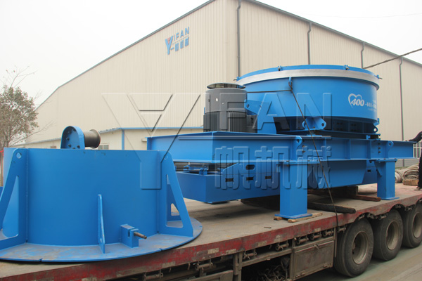 YIFAN Machinery the VI 8000II Vertical Shaft Impact Crusher sent to Chongqing sand making production line