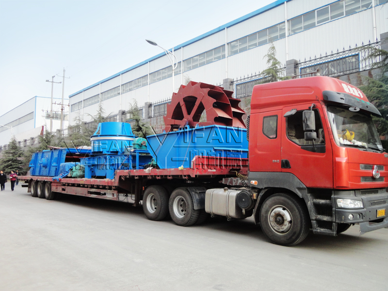 complete sets Sand production line equipment sent to Hunan Province