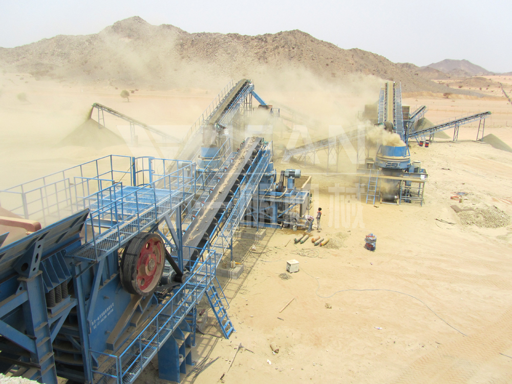 1000 tons per hour PE750 × 1060 jaw crusher sand making production line